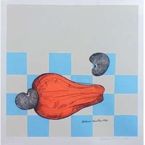 Aldemir Martins - Cajú - Serigrafia P.A. - ass.cid - 1963 - 33x32 cm