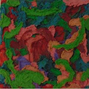 Teresa Viana - S/T - óleo e encáustica s/ tela - Assinado e datado no verso - 2004 - 40 x 40 cm. Com certificado da galeria Luisa Strina.