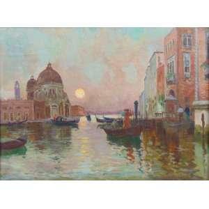 R.Pellegrini - Entardecer em Veneza OST/CID - 35 x 47 cm .
