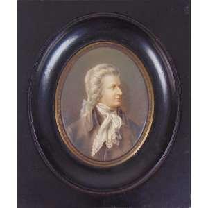 Miniatura representando Nobre - Europa Séc.XIX - 8 x 6 cm