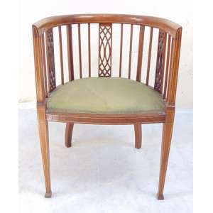 Cadeira de Madeira de lei detalhes em marcheteri . Inglaterra Sec XIX.- 75 cm alt, 34 cm compr, 48 cm prof.