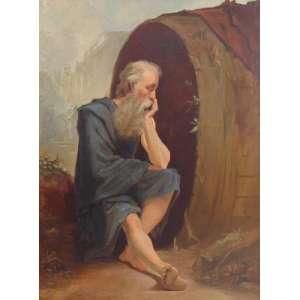 ANÔNIMO - Figura masculina - 99 x 74 cm.(tela no estado)