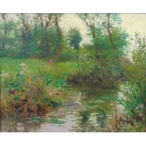 RENE LOUIS CHRETIEN (1867-1945) - Paisagem - OST/CID - 37 x 45 cm .