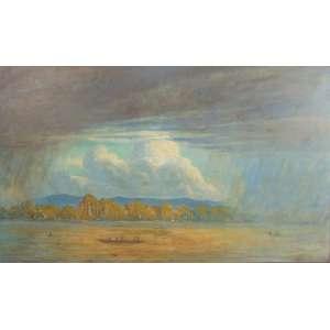ERNEST VOLLBEHR - As chuvas chegam - OST/CID - Belém do Pará, 1920 - 90 x 150 cm.Vollbehr começou um aprendizado como pintor decorativo no Hoftheater Schwerin em 1892. A partir de 1897 estudou arte em Berlim, Dresden, Paris e Roma. Por volta de 1900 ele era artisticamente próximo de Art Nouveau. Como participante de expedições à Albânia (1904) e ao Brasil (1907), descobriu a pintura de viagem para si mesmo. Entre 1909 e 1914 viajou com intenções artísticas para as quatro colônias germano-africanas. Durante a Primeira Guerra Mundial, Vollbehr trabalhou como pintor de guerra na linha de frente. Além dos panoramas da terra e do ar do campo de batalha, foram criados centenas de pinturas e desenhos. Ele é mais conhecido por sua paisagem e pinturas de guerra, com as quais também participou da Grande Exposição de Arte Alemã