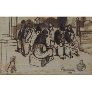 Fulvio Pennacchi - Nanquim marrom - CID - 7 x 11 cm.