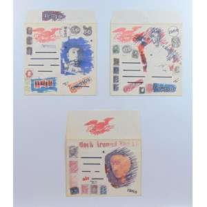 WESLEY DUKE LEE - Serie envelope,técnica mista - 3 envelope - 25 x 21 cm.cada