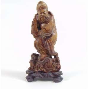 Escultura de pedra representando Sabio - 13 cm alt. China Sec XX