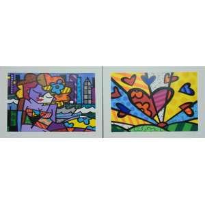 Romero Britto - Álbum com 10 prints - Tiragem 89/300 - 50 x 70 cm.