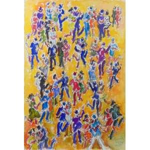 SERGIO TELLES - Baile - Aquarela/CID - 56 x 39 cm.