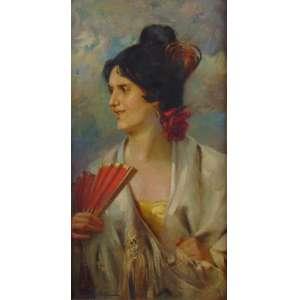 MANUEL MADRUGA - Espanhola - OST - CIE - 80 x 45 cm.Manuel Pereira Madruga Filho (Teresópolis, 20 de setembro de 1882 — Rio de Janeiro, 16 de junho de 1951) foi um artista gráfico, desenhista, professor de artes plásticas e pintor brasileiro