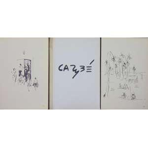 CARYBÉ - Álbum com 14 desenhos - 12 sem moldura e 2 emoldurados