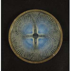 RENE LALIQUE - Prato de vidro artístico decoração Coquilles , assinado . França Sec XIXXX - 16 cm diâm.
