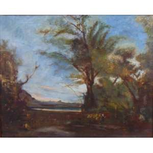 Charles François Daubigny - OST - 47 x 59 cm, não assinado (Atribuido) Daubigny (Paris, 15 de fevereiro de 1817 - idem, 19 de fevereiro de 1878) é um dos alunos da Escola de Barbizon e considerado um importante precursor do impressionismo. Daubigny nasceu em uma família de pintores e foi introduzido à arte por seu pai, Edmond François Daubgny, e também por um tio, o miniaturista Pierre Daubigny. Foi fortemente influenciado pelo movimento realista realizado entre 1830 e 1870 na vila de Barbizon (perto da Floresta de Fontainebleau, na França) - a escola de Barbizon - tornando a natureza o assunto principal de suas obras. Seus melhores quadros foram pintados entre 1864 e 1874, e consistiam em sua maioria de cenários cuidadosamente definidos com árvores, rios e alguns patos. Na França corria a lenda que a quantidade de patos colocados pelo pintor no quadro indicava a qualidade que ele atribuia a obra: um pato, trabalho regular, dois bom, três muito bom. Porém a história parece não ter fundamento, seria apenas uma bricadeira de seus amigos. Isto porque os melhores e mais apreciados quadros do artista, considerados obras primas, que hoje fazem parte de Museu do Louvre não têm patos. Encontra-se sepultado no Cemitério do Père-Lachaise , Paris na França.