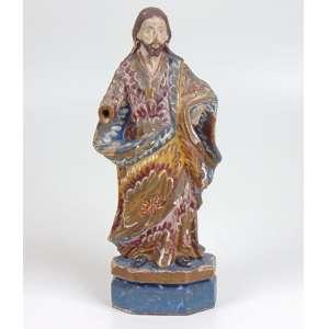 Cristo em madeira policromada. Brasil Sec XIX - 26 cm alt.