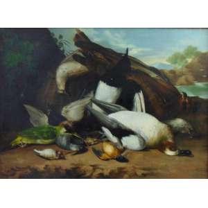 Anônimo - Bela Natureza morta - OST - 52 x 72 cm. Europa Sec XVIII