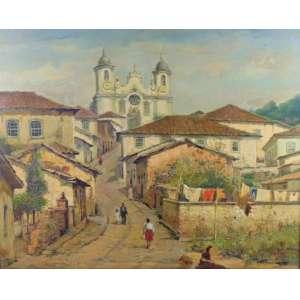 Salvador Rodrigues Tiradentes - Casário - OST - CIE - 79 x 98 cm.