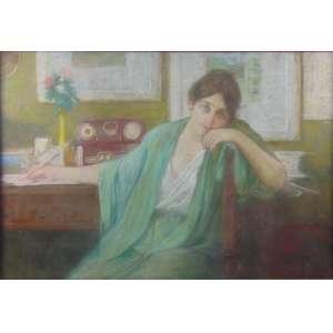 HENRIQUE BERNARDELLI - Figura feminina - AQUARELA - 70 x 103 cm
