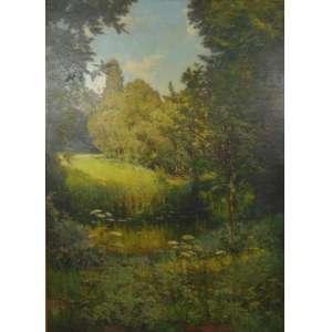 HENRI BIVA - Paisagem - OST/CIE - 151 x 111 cm - Henri Biva (23 de janeiro de 1848 - 2 de fevereiro de 1929) foi um artista francês, conhecido por suas pinturas paisagísticas e vidas paradas. Ele se concentrou principalmente nos subúrbios ocidentais de Paris, pintando ao ar livre na tradição plein-air; seu estilo variando entre pós-impressionismo e realismo com um forte componente naturalista.