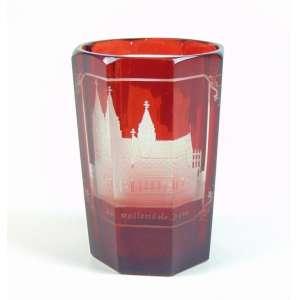 Goblet de cristal da Bohemia delicadamente trabalhado - 10 cm alt, 7 cm diâm. Sec XIX.
