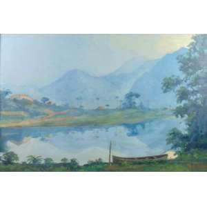 Miguel Bertoni - Paisagem - OSE - CID - 63 x 95 cm.