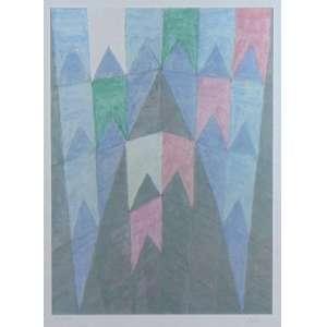 Alfredo Volpi - Bandeirinhas - Litografia - P.A - 20/25 - Ass. inferior direito - 55 x 40 cm.