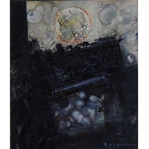 Fernando Odriozola - Sem Título - Namquim e guache sobre cartão - Ass. inferior direito - 30 x 26 cm.