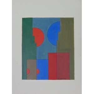 Dionísio Del Santo - S/T - guache sobre papel - ass. cid - 1982 - não emoldurado - 31 x 26 cm.
