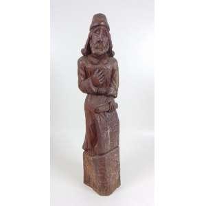 Maluco - Profeta - madeira entalhada - assinada 1977 - 68 x 14 x 15 cm.