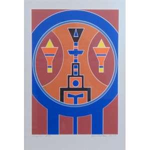 Rubem Valentim - Emblema - Serigrafia - 29/70 - Ass. inferior direito - 1988 - 38 x 26 cm.