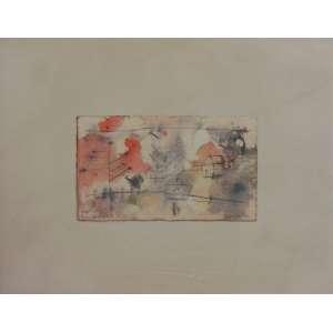 BANDEIRA - Natal 53/Ano Novo 54 - téc. mista s/ cartão - ass. cid - 9x16 cm.