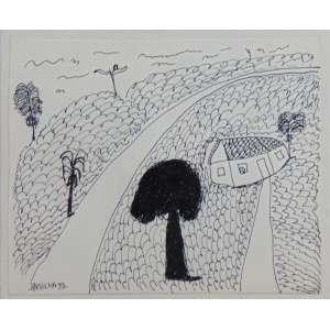 José Antonio da Silva - Fazenda - Desenho a Nanquim - Ass. inferior esquerdo - 1992 - 20 x 24 cm.