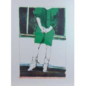 Darel Valença Lins - Da serie Moça - Litografia - 1/50 - ass. cid - 75x56 cm.<br />