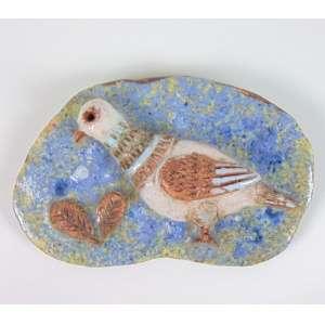Pennacchi - Pássaro - relevo em cerâmica esmaltada - ass. não localizada - 16x10x4cm.