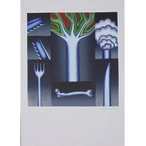 ANTONIO HENRIQUE AMARAL - Ameaça - serigrafia - ass. cid - edição Eco Art nº 43/150 - 1992 - medida gravada 62x60 cm - medida total 100x75 cm - não emoldurada.