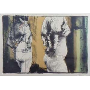 Darel - S/T - litografia - 8/70 - ass. cid - 48x68 cm.