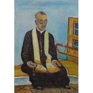 Emídio de Souza - Padre - OST - ass. cie - 38 x 26,5 cm,