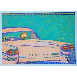 RUBENS GERCHMAN - Pontiac - serigrafia - 37/50 - ass. cid - 70x100 cm - não emoldurada.