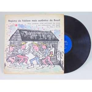 José Antonio da Silva - Registro do Folclore Mais Autêntico do Brasil - disco com pintura a guache na capa - ass. inferior esquerdo - 1966 - 31 x 31 cm.