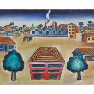 Manoel Martins - Cidade - OST - ass. cid - 1968 - 50 x 61 cm.