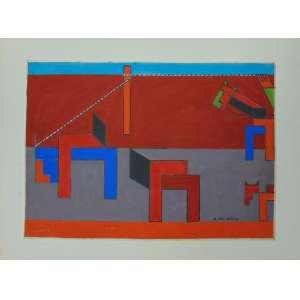 Dionísio Del Santo - S/T - guache sobre papel - ass. cid - não emoldurado - 22 x 31 cm.