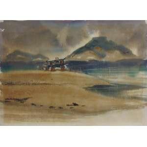 Walter Shigeto Tanaka - Santos - Aquarela - ass. cie - 36 x 50 cm.