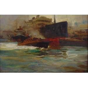 Dario Mecatti - Barcos - OSM - ass. cie - 29 x 49 cm.