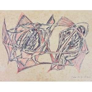 Tedd Derichs Hilgers - Sem titulo - Desenho a Nanquim - Ass. inferior direito - 32 x 45 cm.