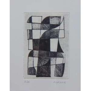 FLEXOR - S/T - gravura em metal - 3/50 - ass. cid - 24x19 cm.