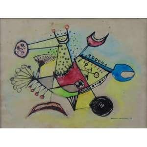 ANTONIO HENRIQUE AMARAL - guache s/ papel - ass. cid - 1962 - 21x28 cm