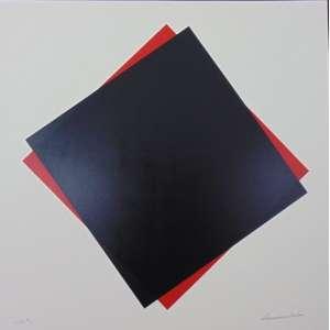 SÉRVULO ESMERALDO - Composição em Preto - serigrafia - 22/60 - 70x70 cm - não emoldurada.