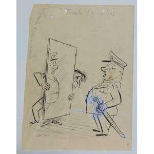 Hilde Weber - Charge - Desenho a Nanquim - Ass. Inferior esquerdo - 32 x 24 cm.