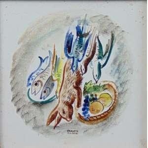 HILDE WEBER - OSIRARTE - S/T - pintura s/ azulejo esmaltado - ass. centro inferior - 15x15 cm