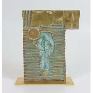 Caciporé - Sem Título - Escultura em bronze - assinada - 20x16 cm.