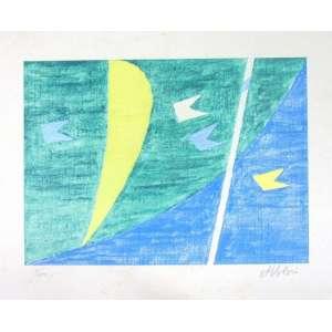 Volpi - Bandeira, Vela e Mastro - Serigrafia - ass. CID - 3/200 - 56x35 cm - não emoldurada - pequena manchas amareladas no paspatur da gravura.